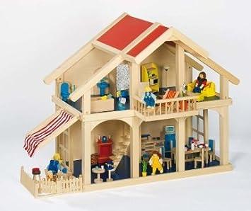 Grand Maison de Poupées en bois, complet avec meubles pour 4 chambre
