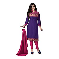 Krishna Present All New wedding Wear Embroidered Purple Color Dress Meterial.