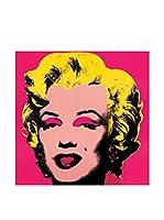 Artopweb Panel Decorativo Warhol Marilyn Monroe 25X25 cm Bordo Nero