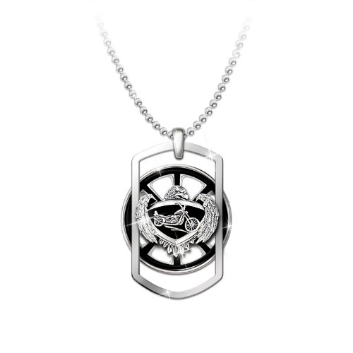 Motorcycle Pendant Necklace: Ride Forever by The Bradford Exchange