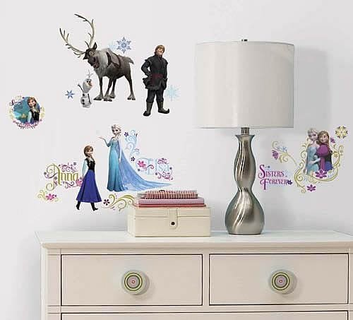 Ana and snow Queen wall sticker [waltdisneycompany/character / film] [goods Princess gadgets インテリアシールウォール sticker stickers wall sticker wall sticker-]
