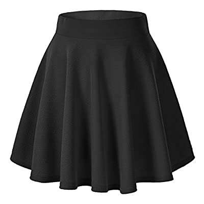 Urban CoCo Women Pleated Skirt Plus Size Mini Skate Skirt Versatile Stretchy