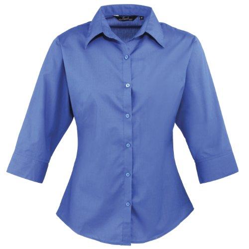 Donna 3/4Maniche popeline camicia Royal 40
