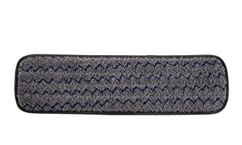 Rubbermaid Commercial 1863895 Executive Series HYGEN Multi-Purpose Microfiber Wet Flat Mop Pad,18-inch, Single-Sided