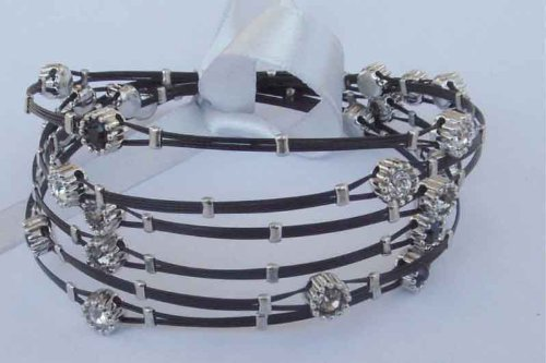 Designer Inspired Whispers Bracelet, Black &