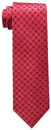 Tommy Hilfiger Men\'s Core Neat II Tie, Red, One Size