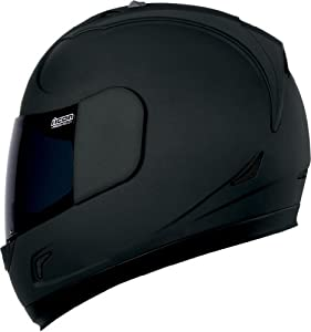 Icon Alliance Dark Helmet , Distinct Name: Black, Gender: Mens/Unisex, Helmet Category: Street, Helmet Type: Full-face Helmets, Primary Color: Black, Size: Sm 0101-6643