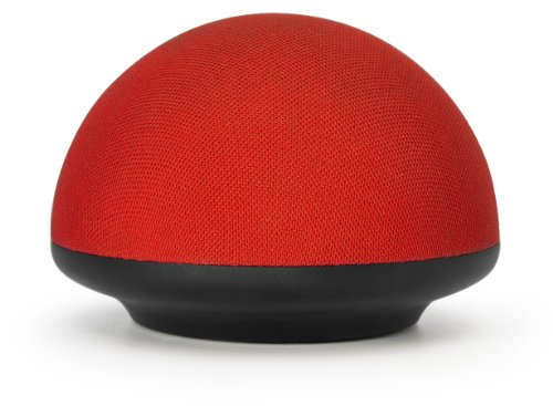 Urge Basics Soundome Bluetooth Wireless Speaker With Built-In Long Lasting Rechargable Battery And Crisp Sound - Retail Packaging - Red/Black