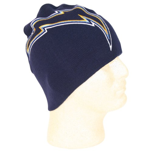 "NFL ""Logo Hype"" Uncuffed Knit Beanie / Winter Hat - San Diego Chargers at Amazon.com"