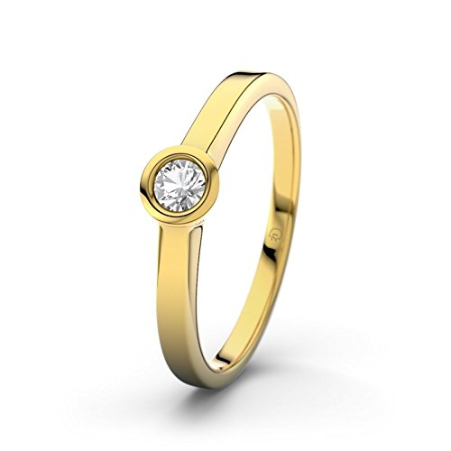 21DIAMONDS Rennes Engagement Ring Brilliant Cut White Topaz 14 carat (585) Yellow Gold Women's Ring Engagement Rings