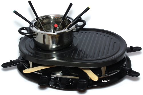 Total Chef TCRF08BN 8-Person Raclette, Black