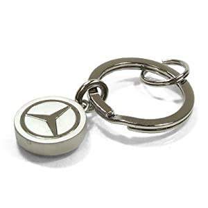 Mercedes benz silver slider key chain automotive for Mercedes benz key chain