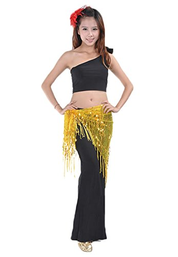 AveryDance Professional Belly Dance Triangle Hip Scarf 3 Pieces Set