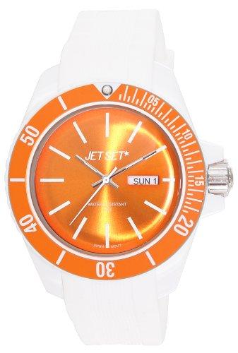 Jet Set J83491-17 - Reloj analógico de cuarzo unisex con correa de caucho, color blanco