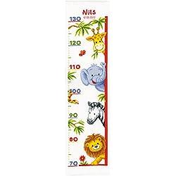 Vervaco - Kit de punto de cruz para hacer medidor de altura, diseño de animales del zoo, multicolor