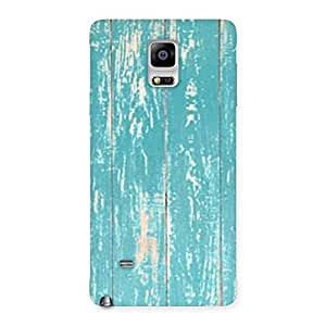 Cute CyanBlue Bar Texture Back Case Cover for Galaxy Note 4