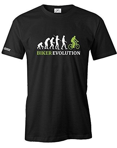 BIKER-EVOLUTION-HERREN-T-SHIRT-in-Schwarz-by-Jayess-Gr-M