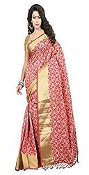 Sanju Fashionable Red Art Silk Traditional Wear Saree for Women