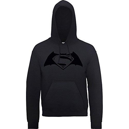 DC Comics Uomo Batman v Superman Logo Print Felpa con cappuccio Small Nero