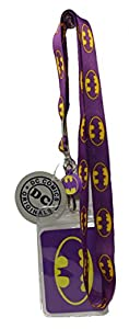 BATMAN, Multipale Batman Icon Logo on Lanyard, Officially Licensed DC Comic Hero Original Artwork, Purple LANYARD