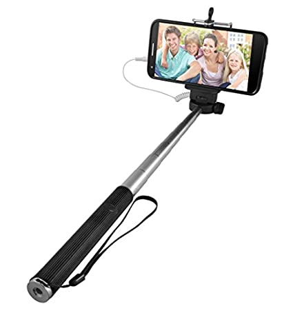 Ematic-Selfie-Stick-Compatible-with-iPhone-4S-or-newer,-Samsung-Galaxy-device,-and-more-Retail-Packaging-Black