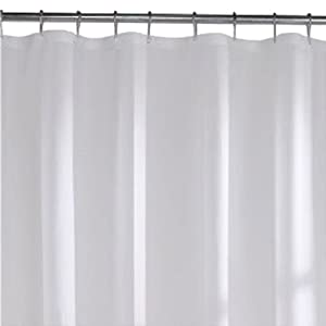 Popularhome 84 Extra Long Waterproof Vinyl Shower Curtain Liner Frosty Clear