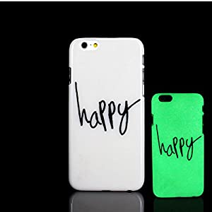 For iPhone 7 Plus Case, Happy Design Epigram Aphorism Pattern Glow in the Dark TomCase Fluorescent Back Cover for iPhone 7 Plus Case 5.5 inch, P1