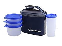 Oliveware New Lunch Bag Set of 4 (LB54 Blue)