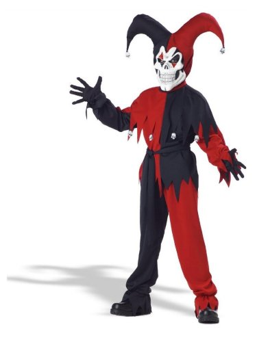 California Costumes Boys Red Evil Jester Costume with Joker Mask
