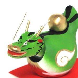 日本製 縁起物 招福干支 正月飾り 張り子 首ふり辰 辰(小)