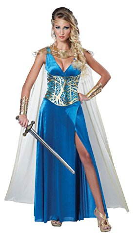 [POPLife Warrior Queen Renaissance Greek Goddess Adult Costume] (Greek Stage Costumes)