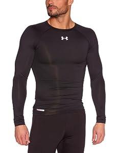 Under Armour Herren Shirt Heatgear Sonic Compression Long Sleeve T, Black/White, M, 1236223-001