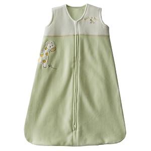HALO SleepSack Applique Micro-Fleece Wearable Blanket, Lime Green, Large