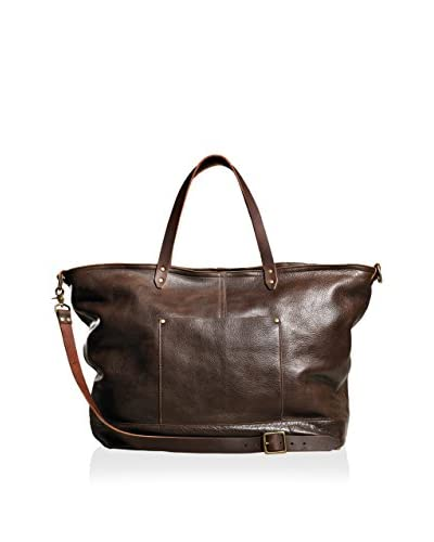 TM1985 Allen Leather Carryall, Dark Brown