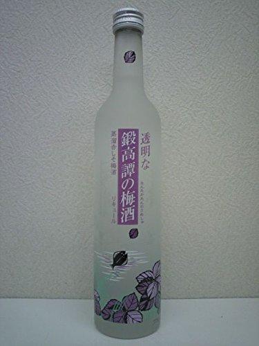 【梅酒】 透明な鍛高譚の梅酒 (たんたかたん) 12度 500ml