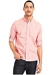 Kenneth Cole Mens Micro Check Button Up Shirt