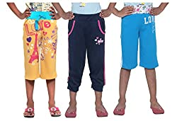 Menthol Girls Capri Combo (Pack of 3) (3-4 Years)