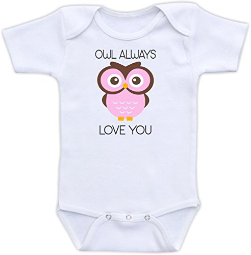 Owl Always Love You - Size 12 Months Infant Shirt (Pink Owl)
