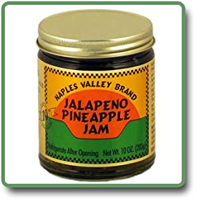 Jalapeno Pineapple Jam - 11 Oz Glass Jar by Naples Valley
