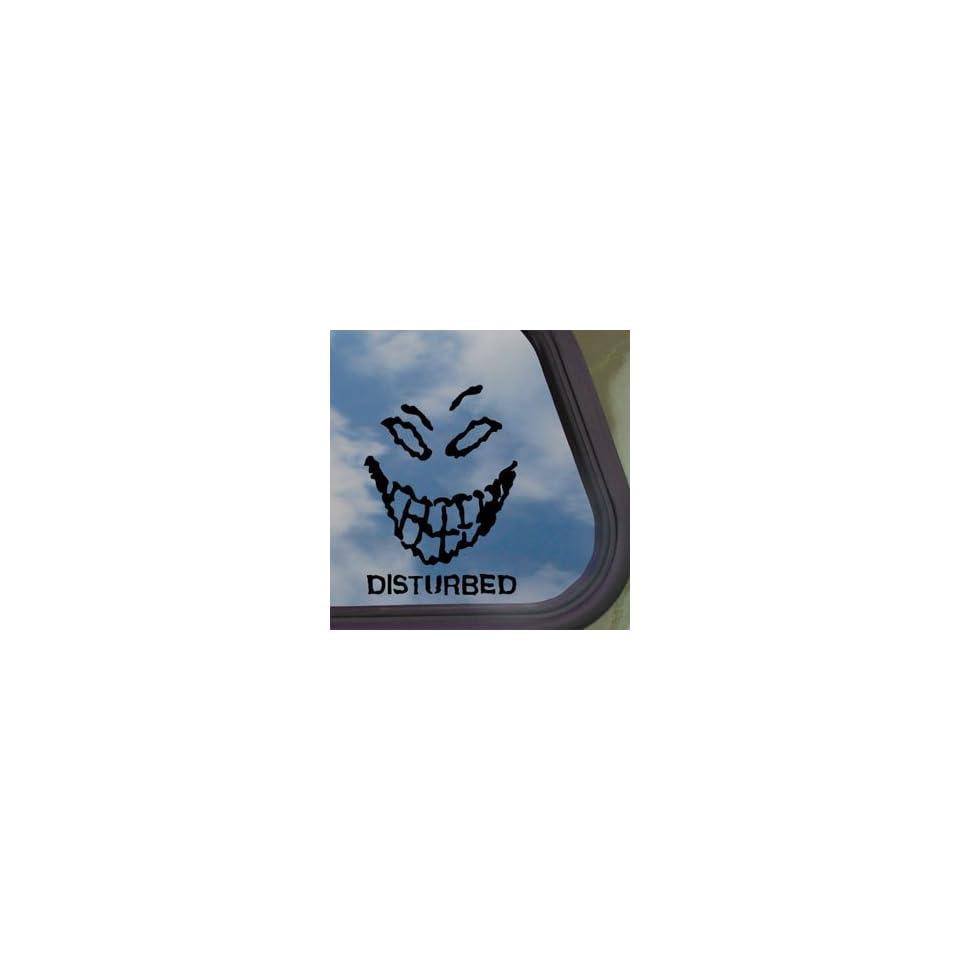 Disturbed Black Decal Metal Rock Band Truck Window Sticker