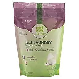 Grab Green Laundry Detergent Pods, Lavender Scent, 24 Loads