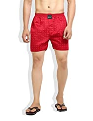 London Bee Men's Cotton Pin Print Boxer