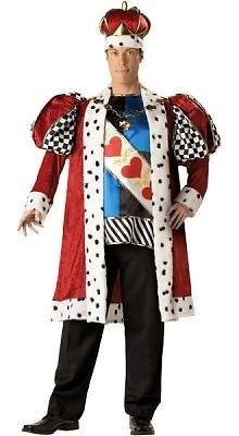 King of Hearts Men's Costume Adult Halloween