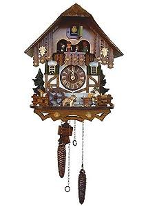 allemand horloge coucou de la for t noire avec. Black Bedroom Furniture Sets. Home Design Ideas