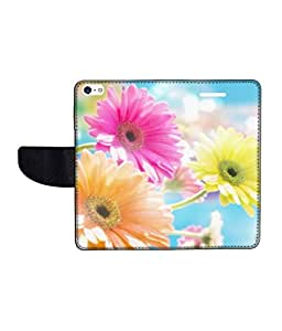 KolorEdge Printed Flip Cover For Apple IPhone 5 Multicolor - (43KeMLogo10424IPhone5)
