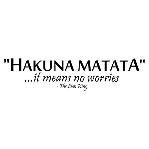 QHGstore 57 * 13cm Il Lie re dicendo: Hakuna Matata della parete del PVC