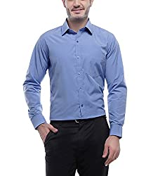 English Navy Men's Formal Shirt (2001Blue40_Blue_40)