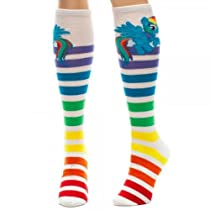My Little Pony Dash Striped Knee High Socks - Multi Colored - One Size