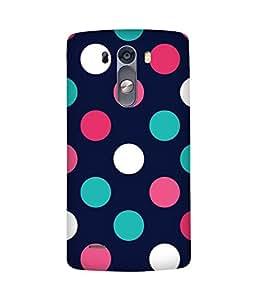 Polka Dots Grande Back Cover Case for LG G3 Stylus