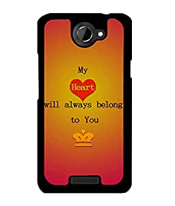 Fuson 2D Printed Love Designer back case cover for HTC One X - D4527